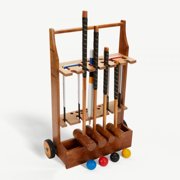 Uber Games Wooden Croquet Trolley