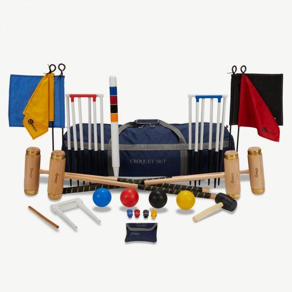 Uber Games 4 Player Executive Croquet Set - Nylon Bag