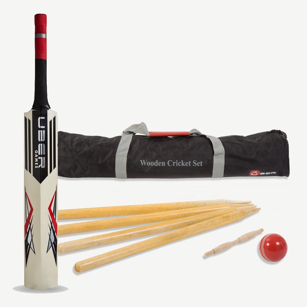 Uber Wooden Cricket Set
